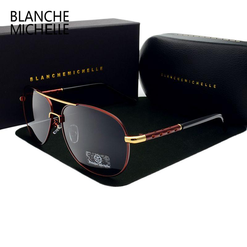 Nouveau chaud de haute qualité marque designer lunettes de soleil polarisées conduite Sport mâle mode Oculos hommes lunettes de soleil lunettes de soleil avec boîte