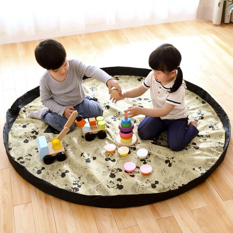 Portable Enfants Jouet Sac De Rangement et Tapis de Jeu Jouets Organisateur Bin Boîte XL Mode Pratiques Sacs De Rangement étanche pique-nique tapis 64142
