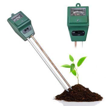 3 in 1 Soil PH Tester Garden Plant Flowers Soil Water Moisture PH Light Meter Tester for Gardening Plant Flower Digital PH Meter