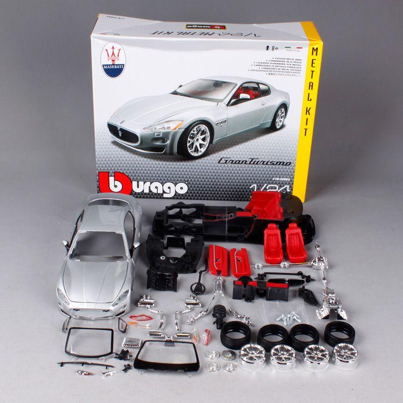 Maisto Bburago 1:24 Maserati GT Gran Turismo Assembly DIY Racing Diecast Model Kit Kits Car Toy New In Box Free Shipping 25083
