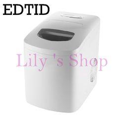 Edtid portátil fabricante de hielo automático hogar Bullet ronda hielo hacer la máquina para Familia pequeña barra de café 220-240 V 120 W UE