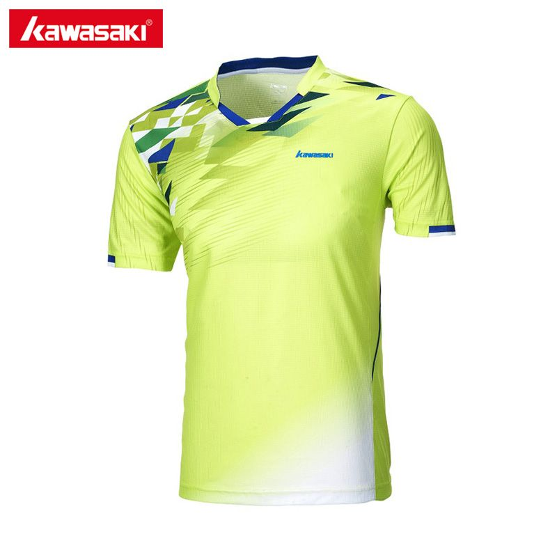 2017 Newest Kawasaki ST-171017 Sportswear Men T-Shirts For Male Breathable Short-sleeved Shirts Sportswear-for-fitness Training