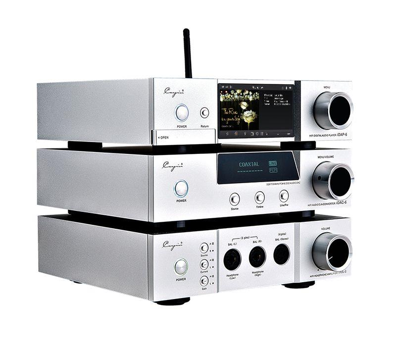 Cayin/iDAP-6/DAC-6/iHA-6 Vacuum tube DAC & Headphone amplifier 6.35mm, 3 pins XLR, 4 pins XLR headphone Desktop player