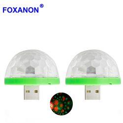 Foxanon мини USB Led свет кристалл портативный сценический свет для праздника рождественской вечеринки красочное освещение сцены DJ лазерный прое...