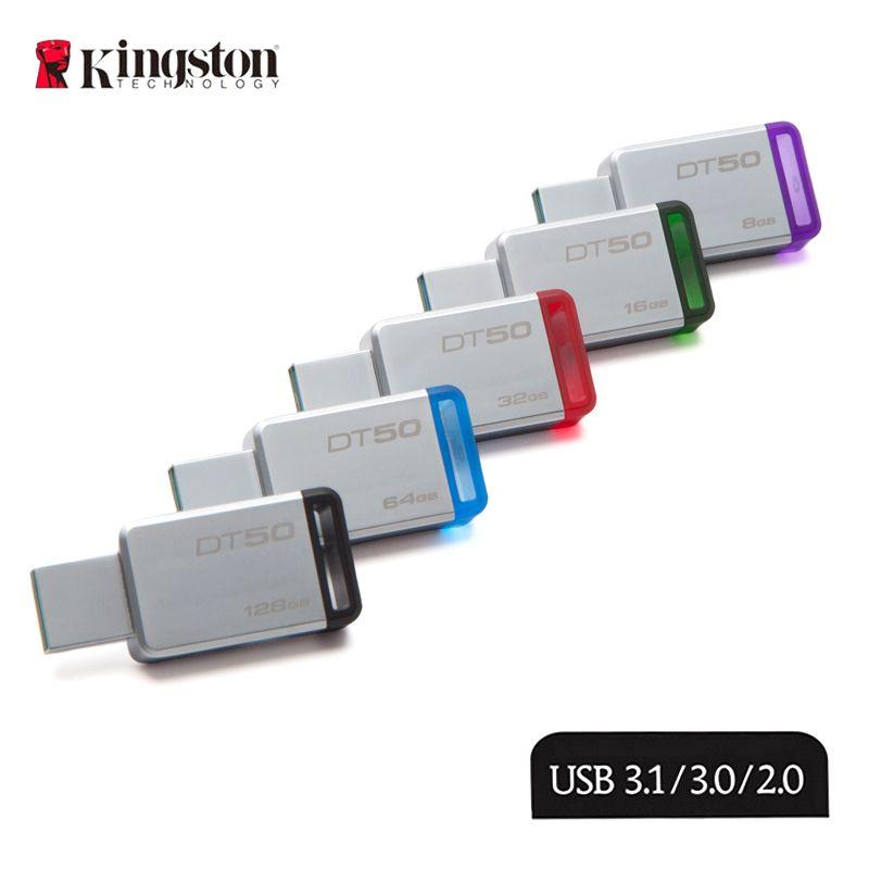 KINGSTON clé USB 64GB USB 3.1 haute vitesse 16G clé USB 128 GB/64 GB/32 GB/16 GB/8 GB capacité réelle 32G clé USB 128G