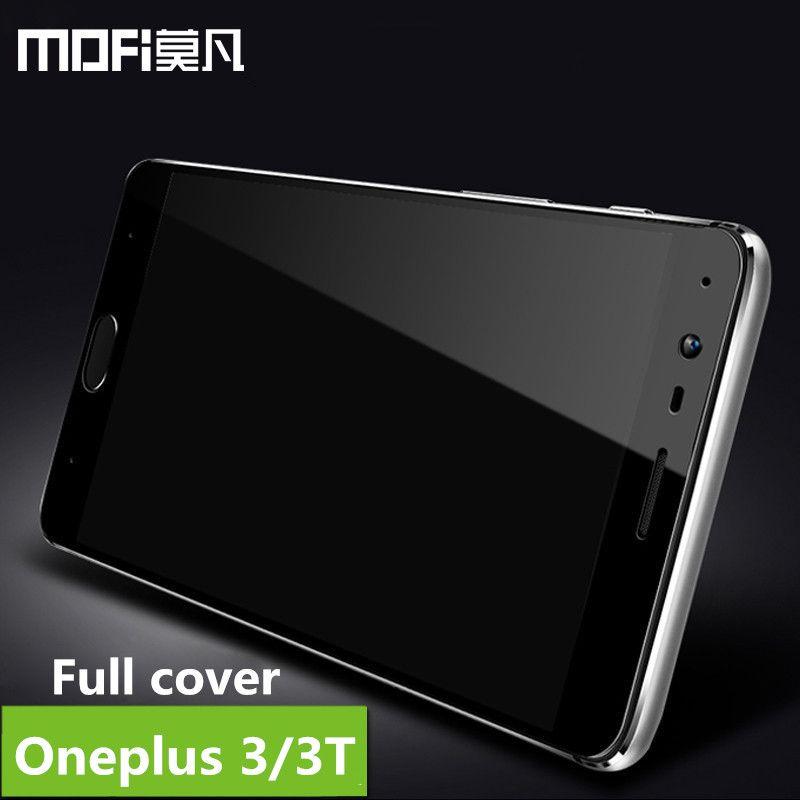 Oneplus 3 t verre trempé oneplus 3 écran de protection pleine couverture de protection sécurité film MOFi un plus 3 3 t trempé verre