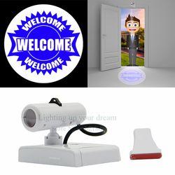 Welcome Projection Door light Cartoon Logo Advertising lamps spotlight with Replaceable Films Support Custom Bedroom Night light