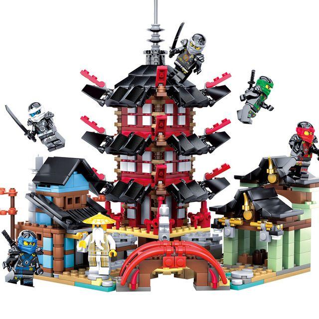 2017 Ninja Temple 737 + pièces bricolage Bâtiment set de blocs de construction jouets éducatifs pour Enfants Compatible avec légèreté ninjagoes
