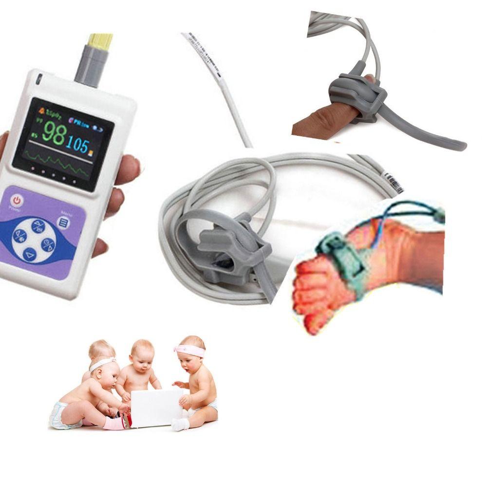 CONTEC CMS60D Neugeborenen Infant Pediatric Kinder Pulsoximeter Spo2 Monitor 24 Stunde PC Software