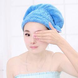 Bonnet De Douche colorée Enveloppé Serviettes Microfibre Salle De Bains Chapeaux Solide Superfine Rapidement Sec Chapeau Cheveux Accessoires De Bain