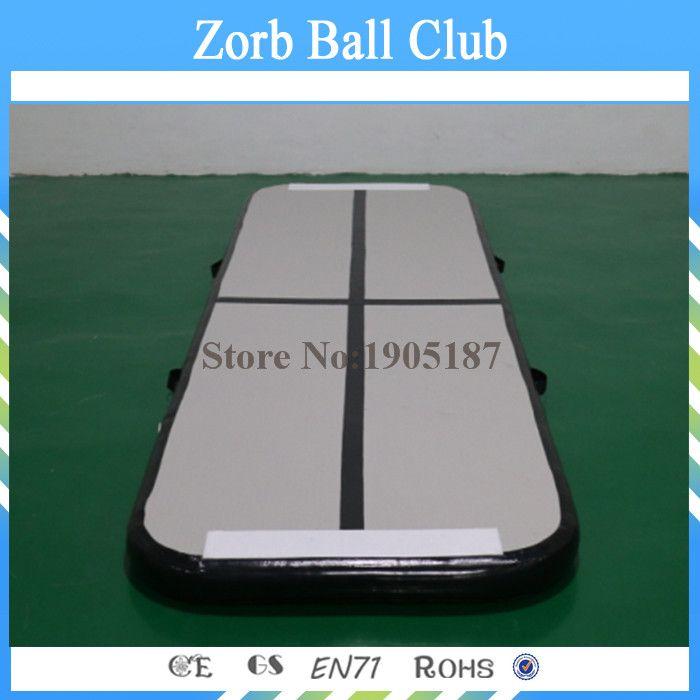 Free Shipping 3x0.9x0.1m Black Gymnastics Inflatable Air Track, Gym Mat Inflatable Air Tumble Track, Inflatable Air Track