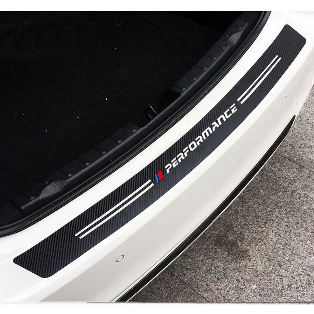 Carbon Fiber Pattern Car Rear Bumper Protector Sticker Performance Decal For BMW E84 F48 E83 F25 G01 E70 F15 M3 M4 M5 X1 X3 X5