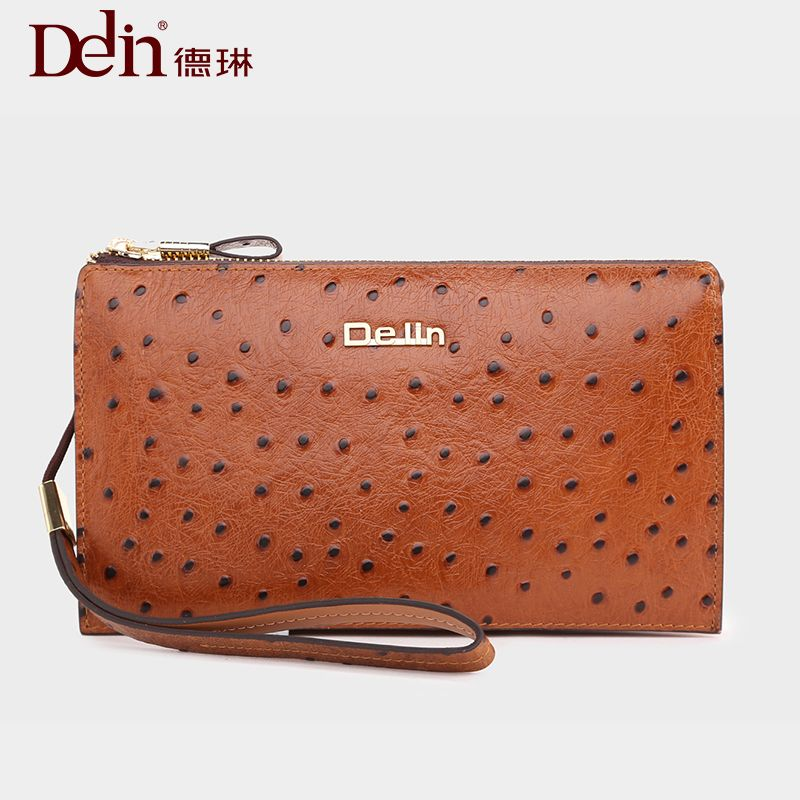 Delin 119 derin hand bag, male business real leather first leather cowboy man bag hand bag bag 2018 new style soft