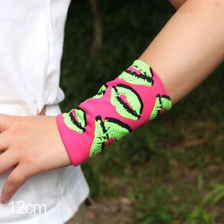 summer style women lady fashion Plaid Stripe Tattoo arm sleeve cover scars fingerless Sunscreen gloves Wrist elbow sleeve