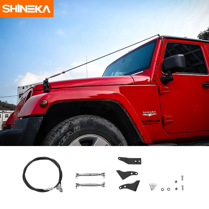 SHINEKA Limb Riser Kit Obstacle Eliminate Rope Protector Deflect Low Hanging Branches Brush For Jeep Wrangler JK 2007-2017