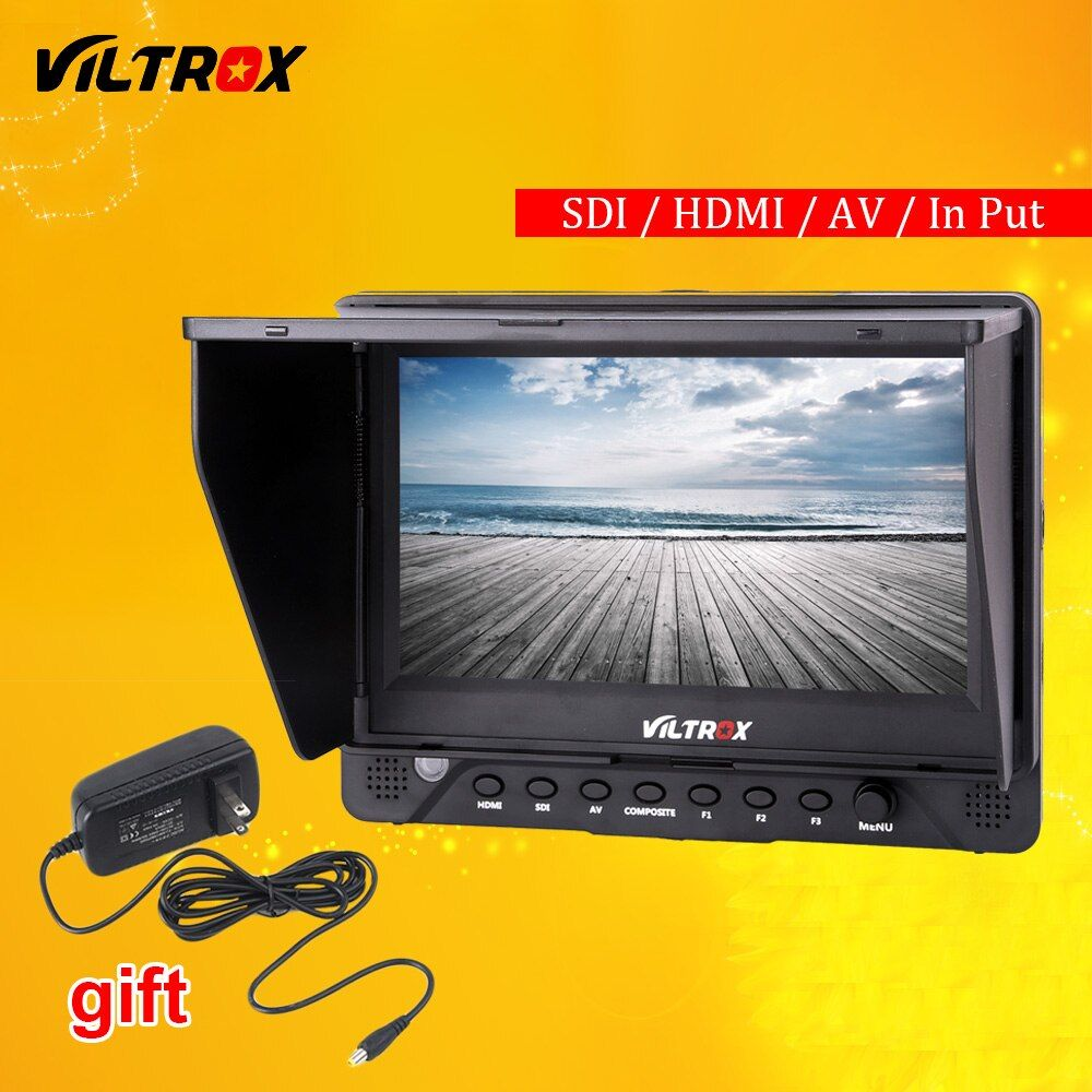 Viltrox DC-70 EX 7'' 4K HD HDMI/SDI/AV Input Output Camera Video LCD Monitor Display + AC Adapter for Canon Nikon Pentax Olympus