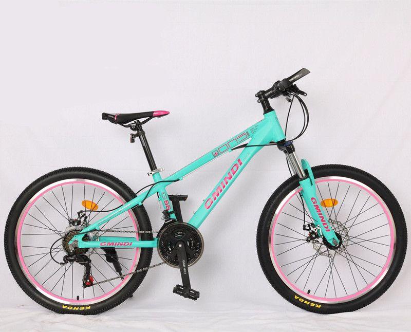 Haute qualité 24 pouces VTT cadre en alliage d'aluminium 21 vitesses vélo Double frein à disque mécanique Shimano dérailleur vélo