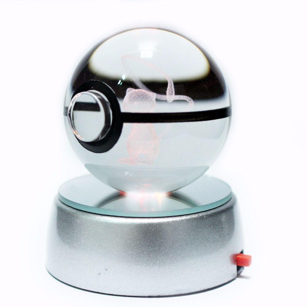 Vente chaude 2 pouces 50mm cristal verre Pokemon Go ball cadeaux de noël créatifs pour les enfants