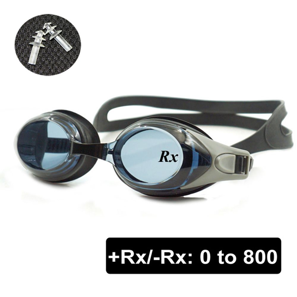 Optical Swim Goggles +Rx -Rx Prescription Swimming Glasses Adults Children Different <font><b>Strength</b></font> Each Eye with Free Ear Plugs