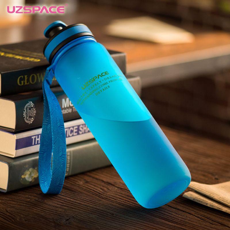 UZSPACE Bouteilles D'eau 650 ml 1000 ml Capacité Potable D'eau Portable En Plastique Protéines Shaker Mon Sport Boisson Bouteille Tritan bpa livraison