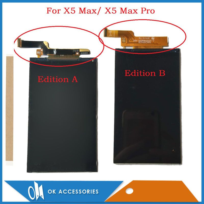 100% Test 5.0 Inch For Doogee X5 Max/ X5 Max Pro LCD Screen Display Replacement Part With Adhesive <font><b>Tape</b></font>