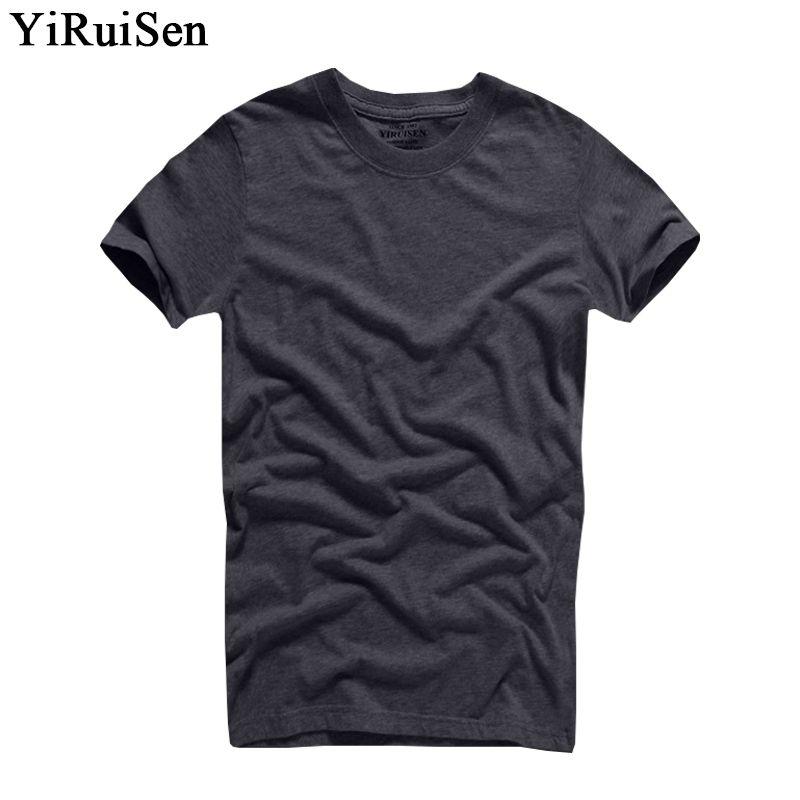 2018 offre spéciale marque YiRuiSen 100% coton T-shirt hommes o-cou à manches courtes solide t-shirts vêtements d'été pour homme