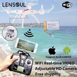 lensoul FPV Drone  WiFi Camera Real Time Video RC Quadcopter 2.4G 6-Axis Quadcopter
