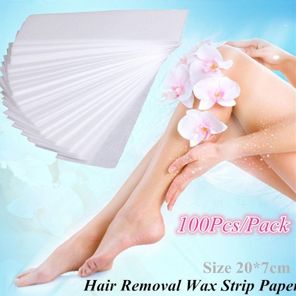 REBUNE 100 Teile/paket Pro Haarentfernung Enthaarungscreme Papier vlies Wachs Papier-waxing Strips für Persönlichen Haarentferner Heizung rolle Auf