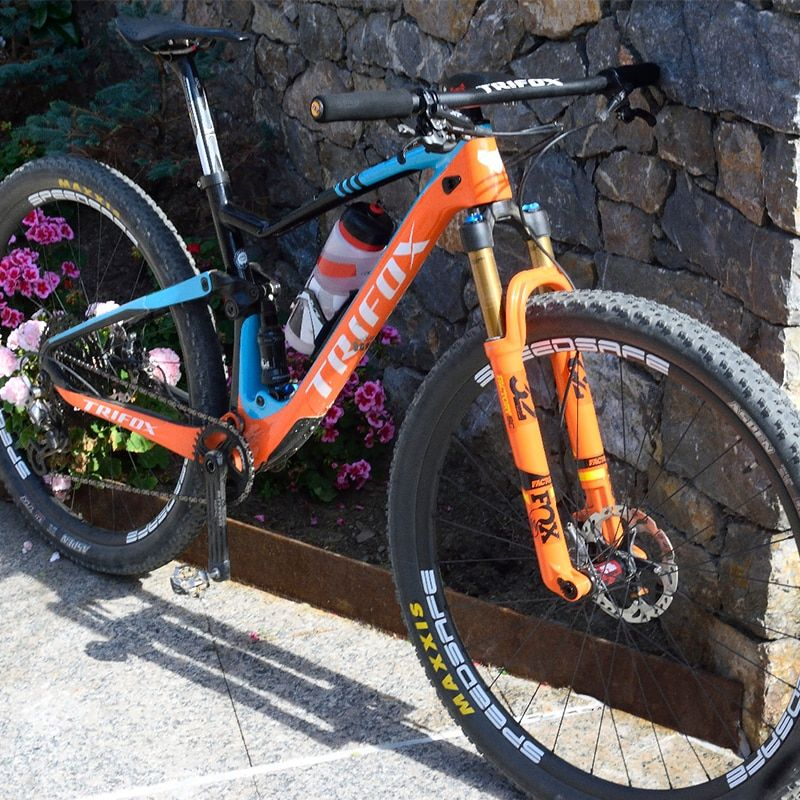 TRIFOX Full Suspension Rahmen MTB 29er Kader Carbone T800 Mountainbike Rahmen 148*12mm Marco de bicicleta