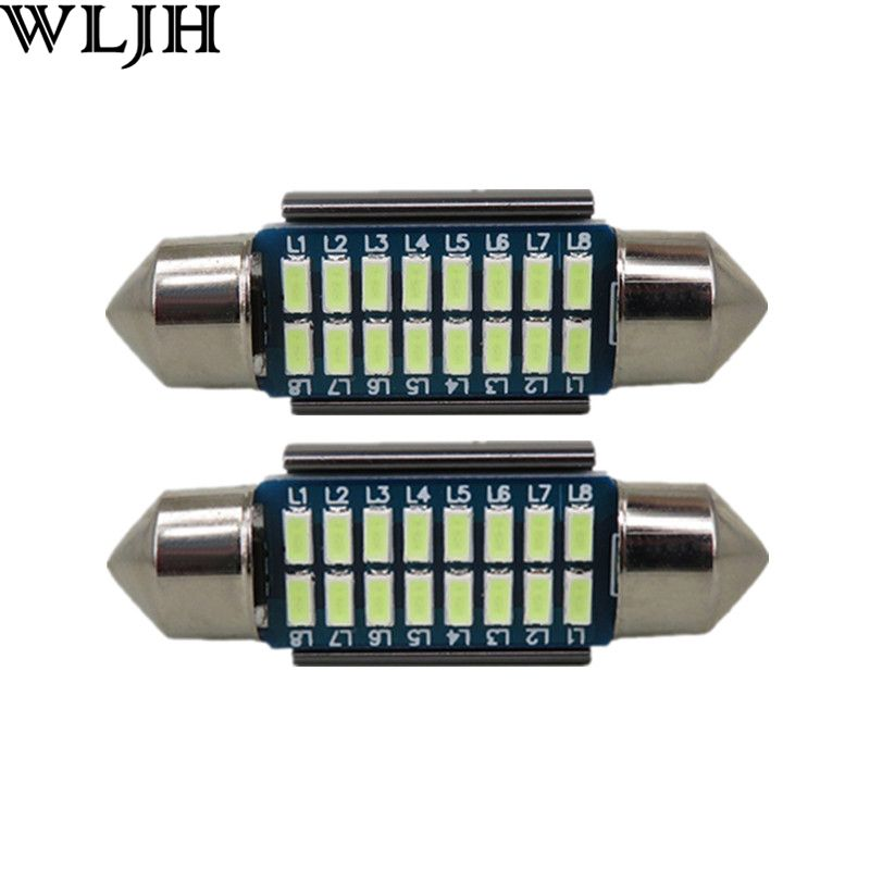 WLJH 2pcs CANbus LED 36mm C5W Lamp Bulb Registration Number Plate License Light For Benz W169 W203 W208 W209 W210 W211 W212