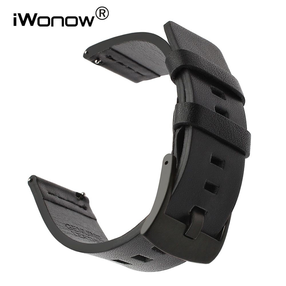 Bracelet de montre en cuir d'huile d'italie 18mm 20mm 22mm 24mm Bracelet de montre à dégagement rapide Bracelet de montre universel Bracelet à boucle en acier noir marron