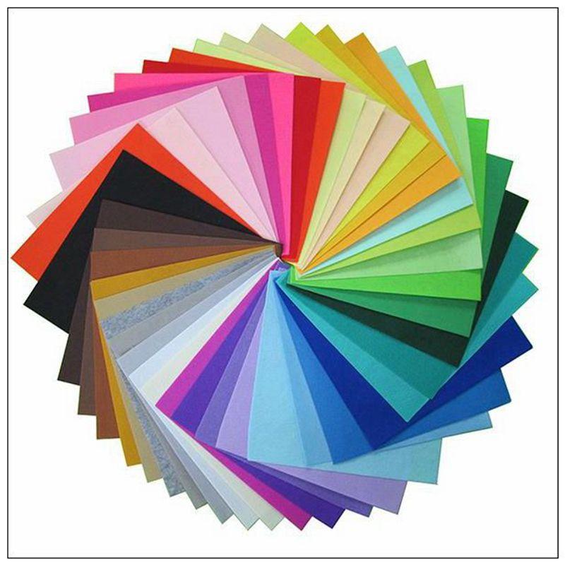Poliestere Tessuto A Mano Fieltro FAI DA TE Cucito Decorazioni Per La Casa Materiale di Spessore 1mm Colore Della Miscela40-30x30