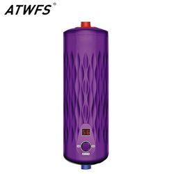 Atwfs sans réservoir chauffe-eau 220 v 5500 w thermostat numérique électrique chauffe-cuisine et salle de bain chaude instantanée chauffe-eau