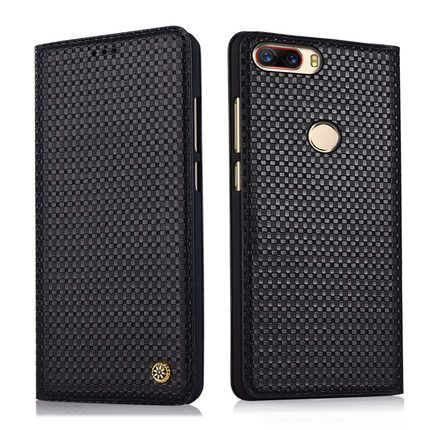 Business Flip Phone Case for ZTE Nubia Z17 5.5 Luxury Cow Genuine Leather Cover Handmade Bag for ZTE Nubia Z17 NX563J