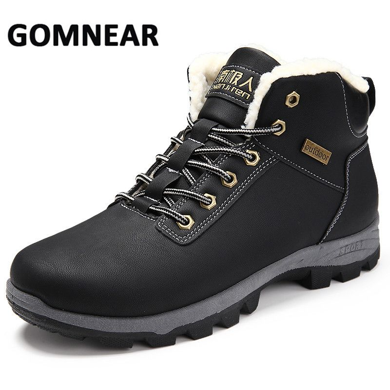 GOMNEAR Men's Winter Sneakers Big Size Breathable Hiking Shoes Trekking Boots Outventure Hunting Shoes Anti-slip Climb Sneakers