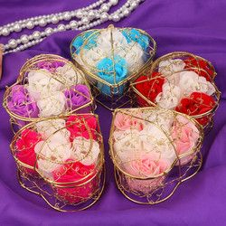 Aléatoire 6 Pcs Corps Bain Pétale Rose Fleur Savon Surprise cadeau De Mariage Décoration Creative cadeau du Jour de Valentine n # dropship