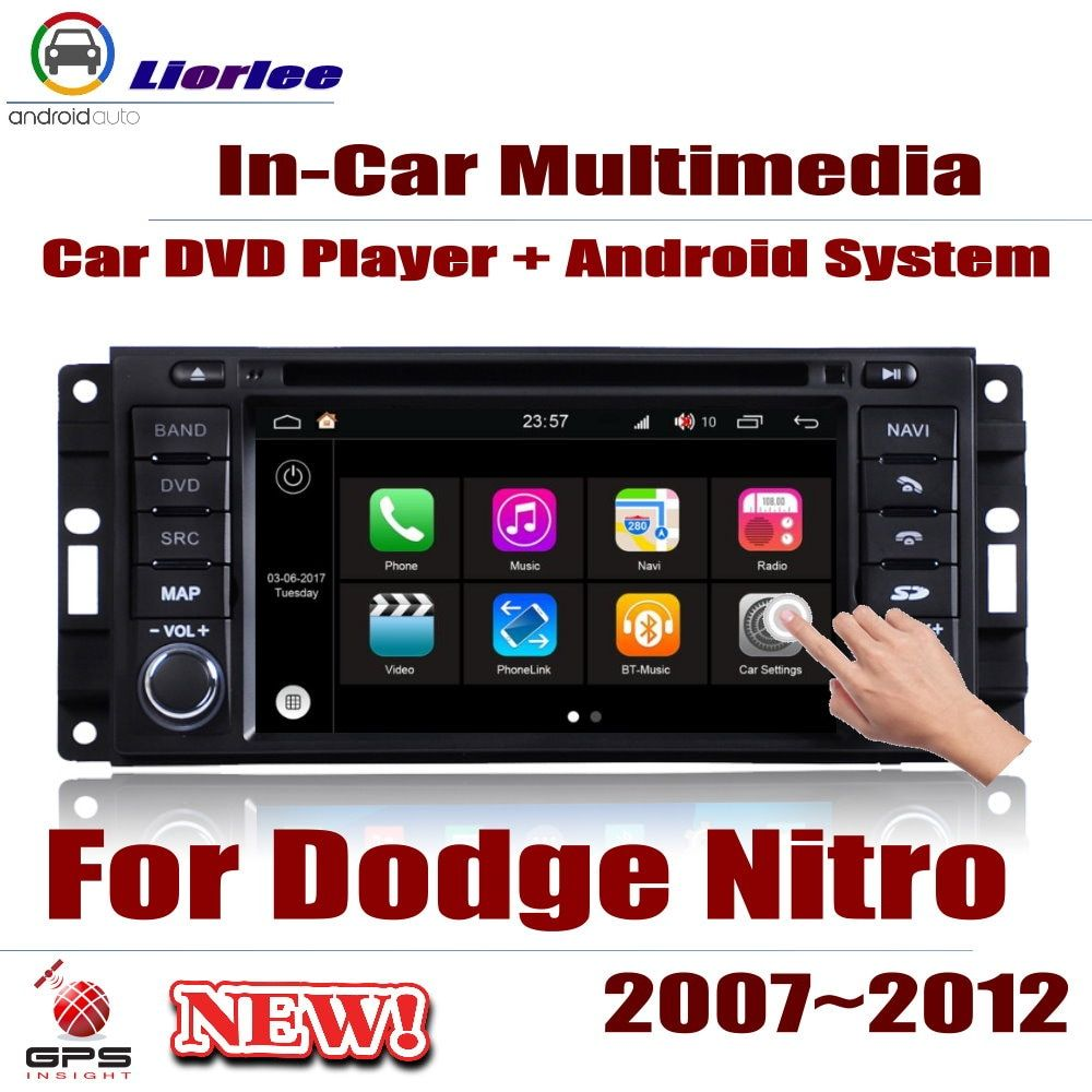 Auto Radio DVD-Spieler GPS-Navigation Für Dodge Nitro 2007 ~ 2012 Android HD Displayer System Audio Video Stereo In dash Head Unit