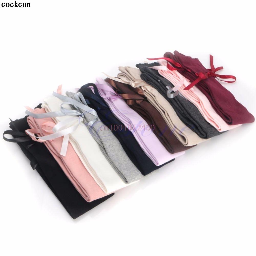 Для женщин ленты лук загрузки Носки для девочек бедра высокая Над Коленом Высокие гольфы