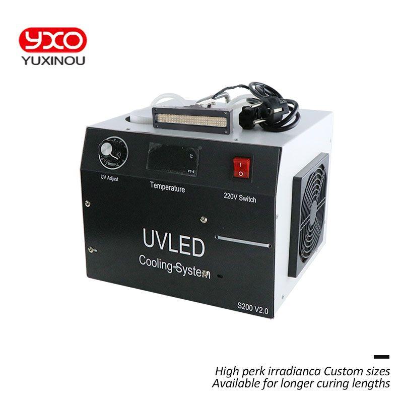 400 W UV LED aushärtung system 2 LED Kopf für druck led härtung maschine, label druck, flachbettdrucker, uv tinte, kleber aushärtung licht
