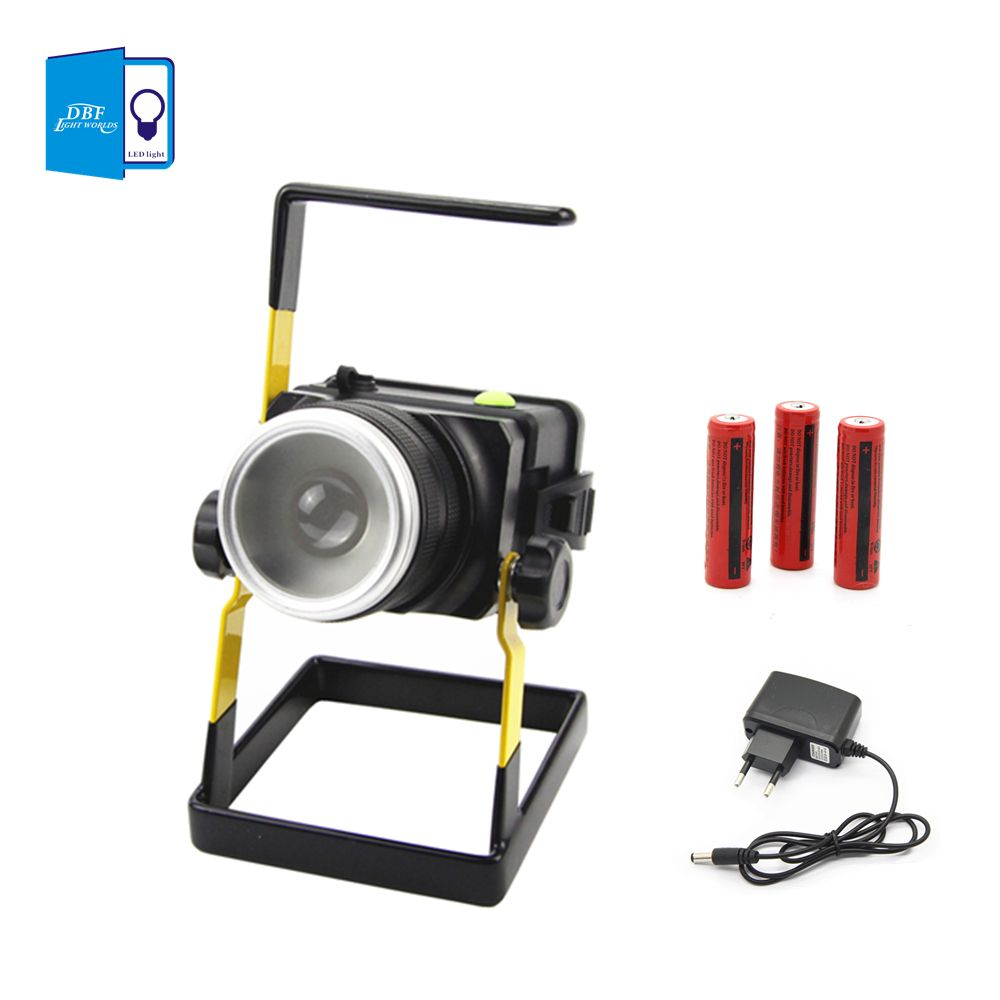 [DBF]Waterproof IP65 T6 30W LED Flood light Portable SpotLights 3model Rechargeable Floodlights Outdoor LED Work Emergency light