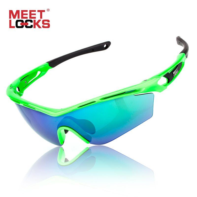 Meetlocks Professional Bike Sunglasses Cycling Glasses Full Nano Coating Lens UV400 Protection Shatterproof Anti-fog Eyewear