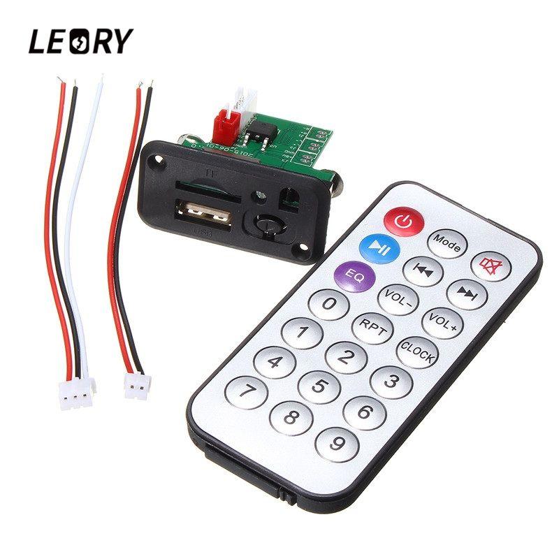 LEORY 1 STÜCK Mini MP3 Decoder Board Usb-mp3-player-modul Mit Fernbedienung USB TF Card Jack MP3 WAV Decodierung Bord verstärker