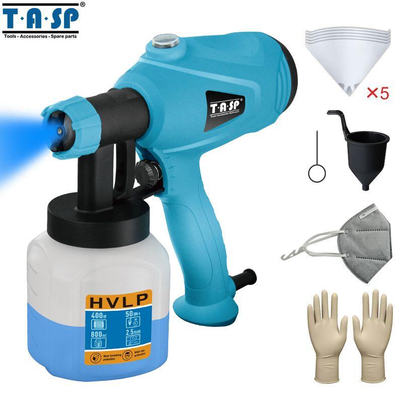TASP 120 V/230 V 400W pistolet de pulvérisation électrique HVLP peinture pulvérisateur compresseur avec contrôle de débit réglable et crépine & masque
