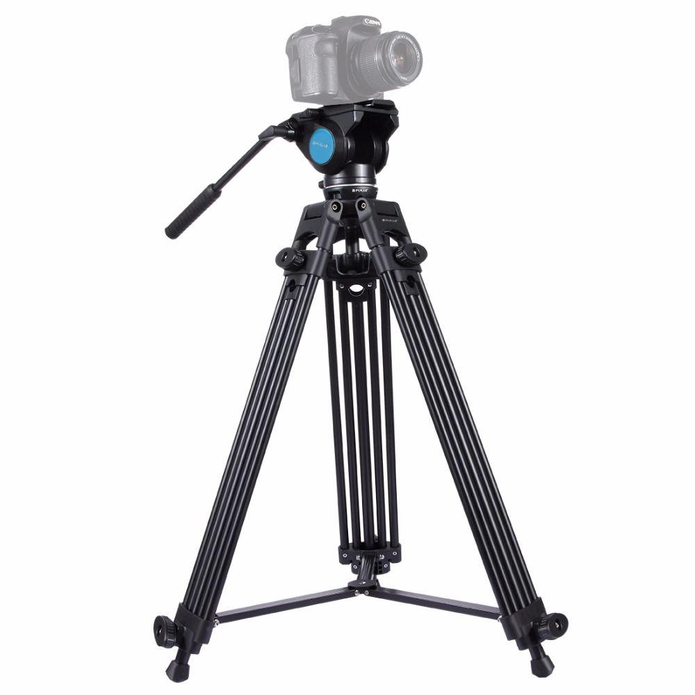 New Professional Video Camera Camcorder Tripod Kit with tripod Head Heavy Duty Camera Accessories Stand for DSLR/SLR/Cameras