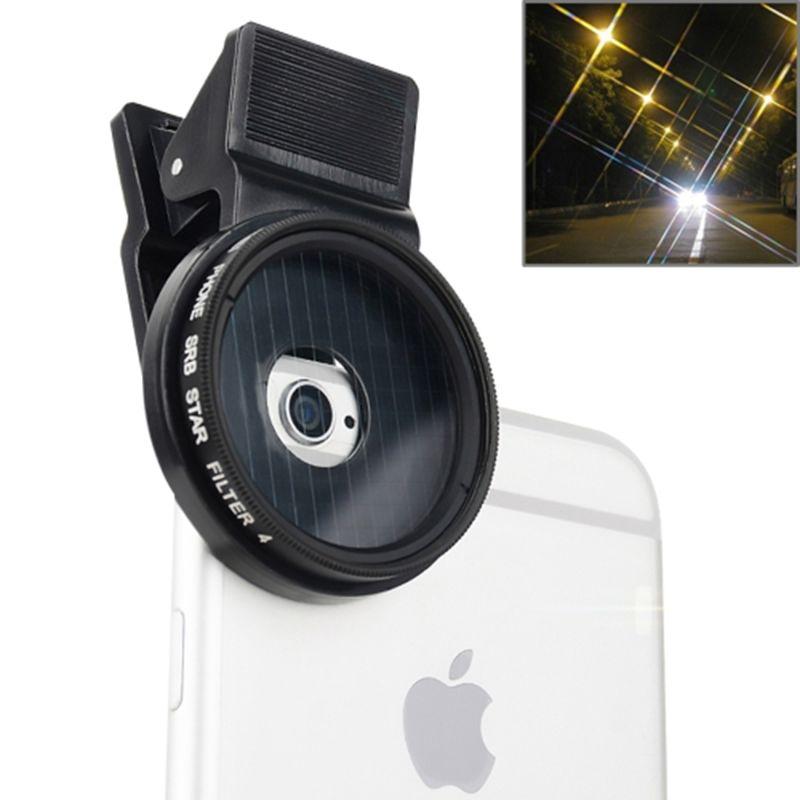 Profesional 37mm filtro estrella de la lente kit para iphone 7 plus 6 6 s 5 se 5c samsung htc sony teléfono celular lente de la cámara filtro