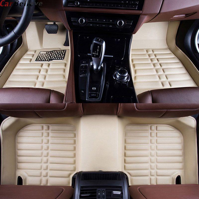 Car Believe car floor Foot mat For nissan qashqai j10 patrol y61 juke murano teana j32 x-trail t31 waterproof accessories carpet