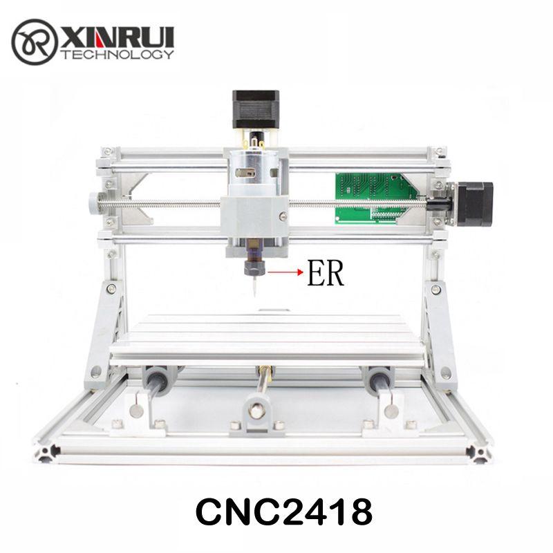 CNC 2418 ER11 GRBL contrôle bricolage CNC machine, zone de travail 24x18x4.5 cm, 3 axes pcb pvc fraiseuse, bois routeur graveur