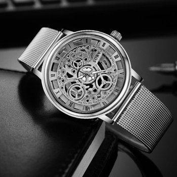 Mode SOXY Montre Argent et D'or De Luxe Creux En Acier Montres Hommes Femmes Unisexe Hombre Quartz montre-Bracelet Horloge Rétro Relogio