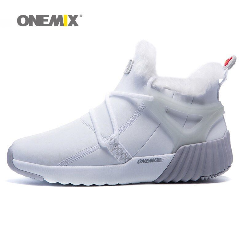 Onemix Winter Shoes Women Suede Leather Hairy Outdoor Warm Durable Running Shoes Sneakers Sport Shoes Winter Boot Free Shipping
