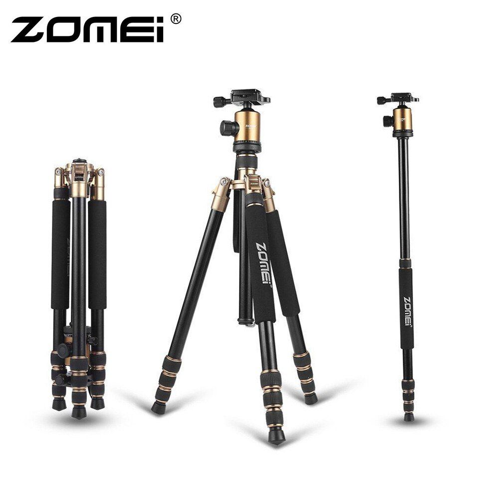 ZOMEI Z818 Protable Aluminium Magnesium Aolly Stativ Reise Kamera Stativ mit Kugelkopf Einbeinstativ Flexible Für DSLR Video Kamera